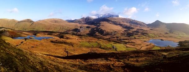 Yr Wyddfa o Crib Nantlle - Snowdon from Nantlle Ridge